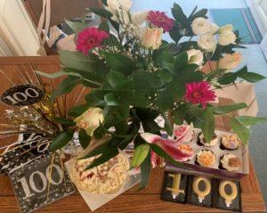 Birthday Flowers & Cake